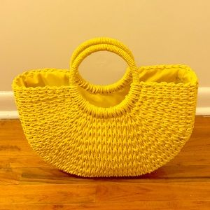 Forever 21 Yellow Straw Bag